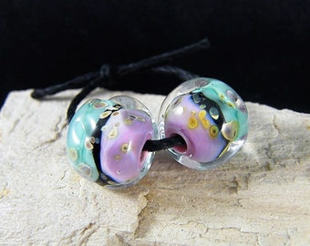 Handmade Lampwork Beads - Earring Pairs ~ Blissful-Southwest-Boho-Lampies