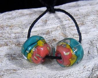 Handmade Lampwork Beads -Organic Nugget  Earring Pairs ~Canyon ~Boho-Lampies