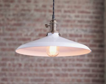 Pendant Lights - Warehouse Shade -  Hanging Pendant Light - Industrial Shade Pendant