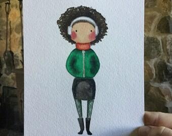 "5.5""x 7.5"" original watercolor"