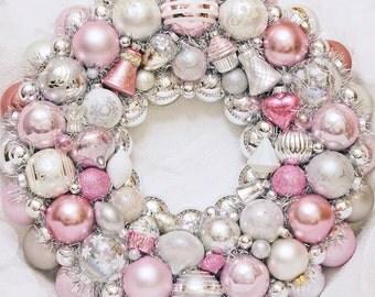 Ornament Wreath, Pink wreath, Valentine Wreath