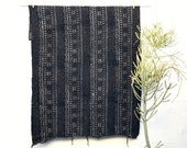 African Mudcloth Fabric, Mud cloth fabric, black and white mudcloth throw authentic mudcloth textile #17