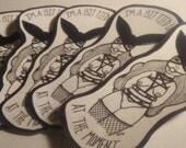 Bunny Bondage Babe Stickers