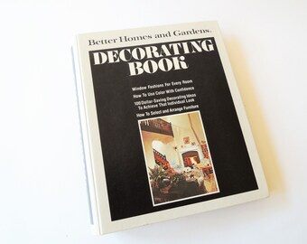 Better Homes and Gardens Decorating Book, 1975 Edition, Interior Decorating Book, Illustrated 5 Ring Hard Cover Binder, BOHO Decorating Tips