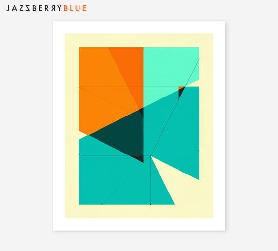 Giclée Fine art Print, Abstract, Geometric Artwork by Jazzberry Blue, DELINEATION (131)