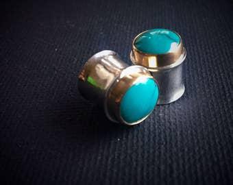 Turquoise Plugs  ~ Silver Plugs ~ Gold Plugs ~ Turquoise Gauges ~ Gauges ~ Turquoise ~ Turquoise Jewelry ~ 00 Plugs