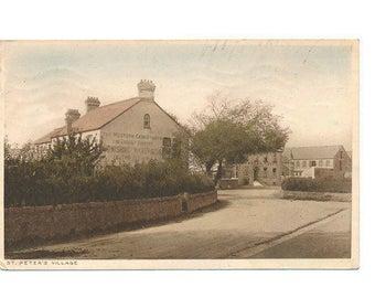 postcard St Peters Village, Channel Islands, Jersey, 1925