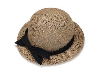 Straw Hat With Short Brim , Hat For Women , Womens Summer Hats , Straw Hat , Sun hat , Straw hat for summer , Beach hat , Cloche Hat