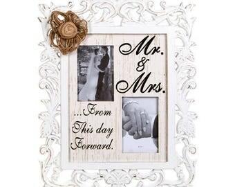 Wedding Gift, Engagement Gift, Wedding Photo Frame Prop Bridal Shower Photo Frame Personalized Wedding Reception Decor Ideas Signs