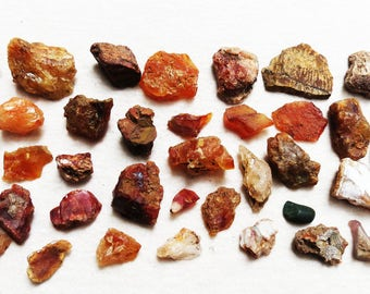 Oregon Crystals Carnelian Nuggets Agates Rare Curiosity Lot Finds Instant Rock Collection Variety Specimens Lapidary Supply