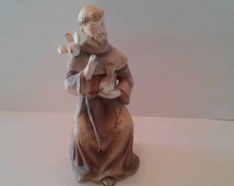 Vintage Saint Francis of Assisi Statue