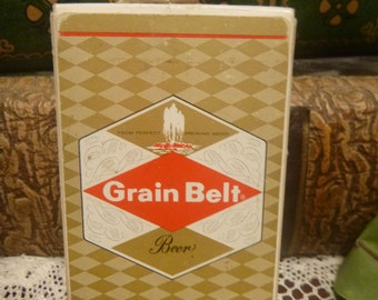 Vintage Grain Belt Beer Playing Cards, Grain Belt Beer Deck of Cards,  MINT   (T)