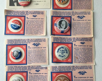 Lot of Politcal pins reproductions from the 70's
