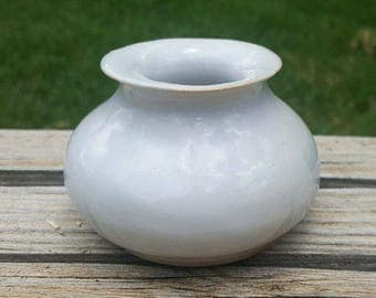 Small White Ceramic Vase - Hand Built Porcelain Pottery