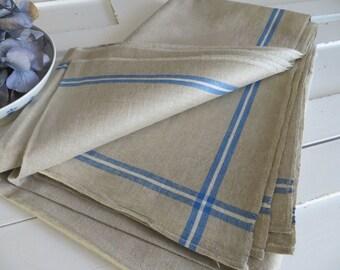 Free Shipp   Mangle Cloth   Tablecloth Linen White   Blue Stripes   Fabric  Pillow Bag Curtain Upholstery Roman Blind Roman Shades Runner