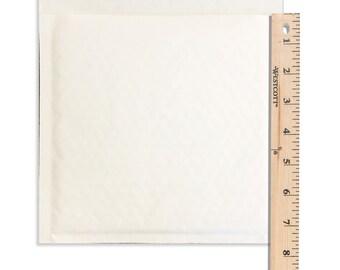 "30Pack 7.25x7"" White KRAFT BUBBLE Mailer Envelopes -Size#CD Rigid Kraft Business shipping mailers -Approved Postal Shipping Media Envelopes"