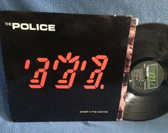 """Vintage, The Police - """"Ghost In The Machine"""" Vinyl LP Record Album, Original 1981 Press, Sting, Invisible Sun, Spirits In The Material World"""
