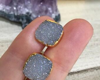 Druzy Quartz Earrings, Boho chic