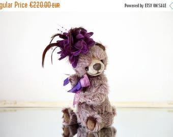 Sale 50% Artist Teddy bear Jennifer + FREE shipping - Lavender Collectible bear - OOAK teddy bear