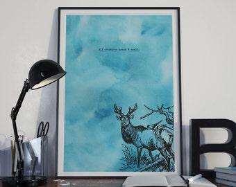 Original 'ALL CREATURES' A4 Art Print