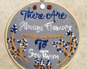 Embroidery Hoop Quote Art Home Decor