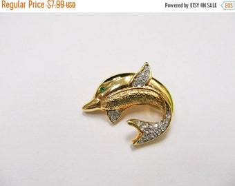 On Sale Retro Rhinestone Dolphin Pin Item K # 911