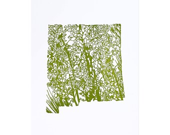 Letterpress New Mexico Yucca flower