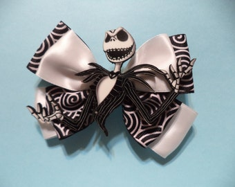 Jack skellington Nightmare Before Christmas /  Hair Bow