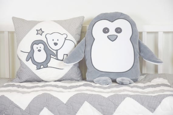 Penguin Pillow Plush Animal or Toddler Gift Penguin Pillow made from Soft plush