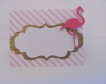 Pink and Gold Food Labels, Flamingo Food Labels, Flamingo Party Decorations, Pink and Gold Party Decorations
