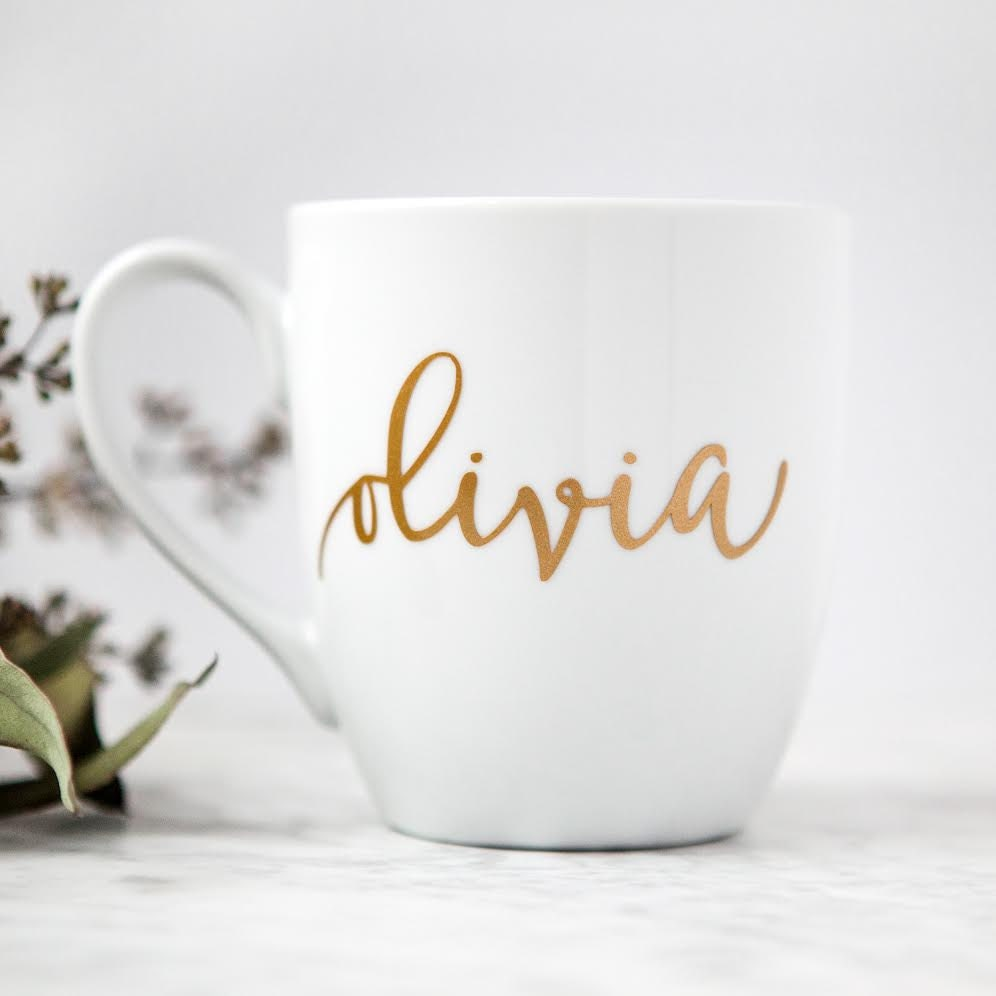 personalized mug gold custom coffee mug bridesmaid gifts. Black Bedroom Furniture Sets. Home Design Ideas