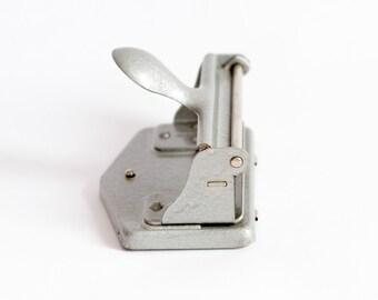 Vintage Paper Hole Puncher, Antique Office Perforator, Old Office 4-Hole Puncher, SwedishPaper Hole Puncher