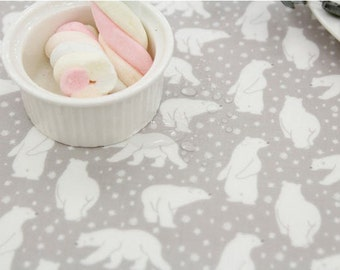 Polar Bears Laminated Cotton Fabric - Fabric By the Yard 97066