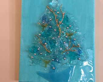 Glass and Resin Tree Wall Art