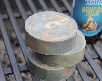 BONFIRE BREW BEER Shave Soap | Mens Shaving Soap| Beer Soap | Groomsmen Gift | Shaving gifts for Men | Firefighters Gifts