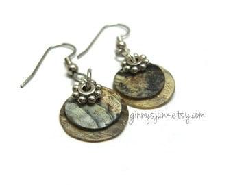 Mother of Pearl Layer Earrings- Dangle Earrings