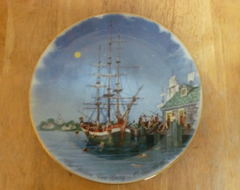 Shenango Fine China The Boston Tea Party collector plate by C Sternberg