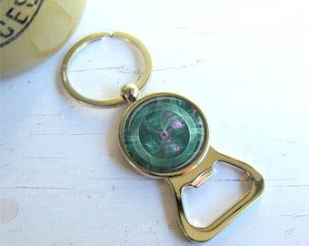 Jade Mechanical Eye Key Chain Bottle Opener