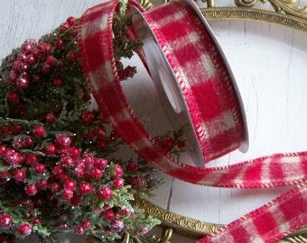 Plaid Winter Ribbon, Seasonal Ribbon, Plaid, Holiday Ribbons, Holiday Plaid Ribbons, Christmas Ribbon, Country Ribbon, Farmhouse Ribbon