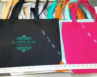 Custom Glitter Logo on your Tote Bag, medium or large
