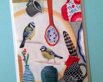 A6 Greetings Card - The Kitchen Dresser