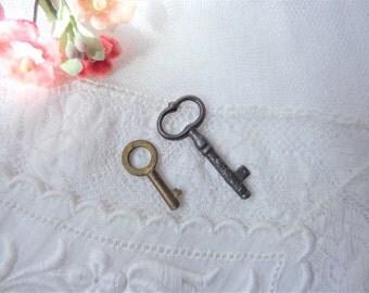 Vintage Mini Skeleton Key 2 Metal Keys