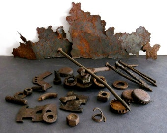 Industrial Scrap Metal, Rusty Industrial Metal Pieces, Old Scrap Metal Pieces, Industrial Art, Industrial Decor,  Salvaged Metal Scraps