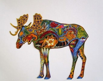 """Moose Patch 10"""" Iron On"""