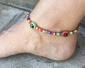 Dog Paw Anklet Dog Paw Jewelry Ankle Bracelet Ankle Jewelry Cute Anklet Made in USA Dog Themed Jewelry Dog Paw Item Made in Texas