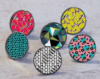 Geometric Pattern Cupboard Cabinet Knobs