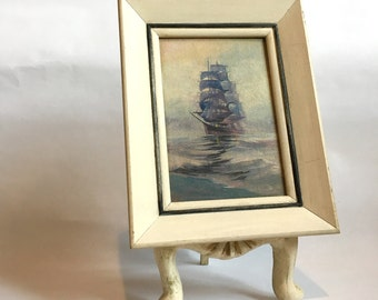 Small Oil Painting Tall Ship