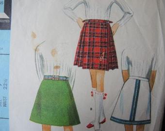 vintage 1960s McCalls sewing pattern 8633 girls skirt set size 7