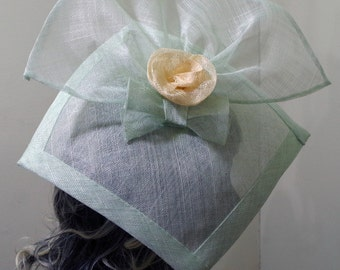 Pastel Green fascinator hat