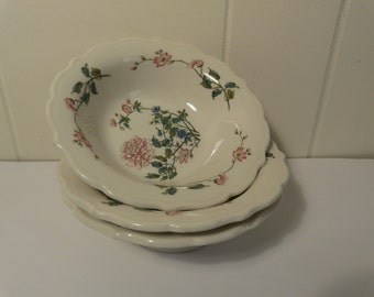 Syracuse, Summerdale, cereal bowl, vintage restaurant ware, diner, set of 3